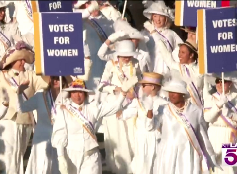 2020 marchers Rose Parade for Women;s Suffrage Centennial