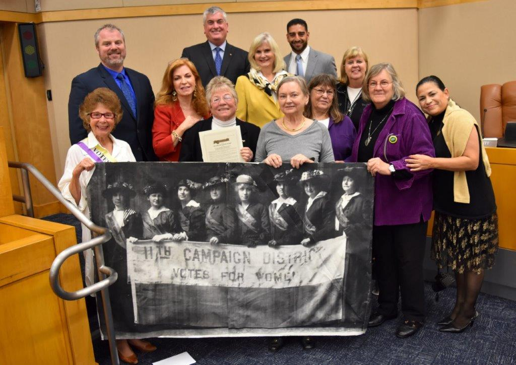 NOW Sonoma chapter recognized by Sonoma County Board of Supervisors for 50th Anniversay of NOW
