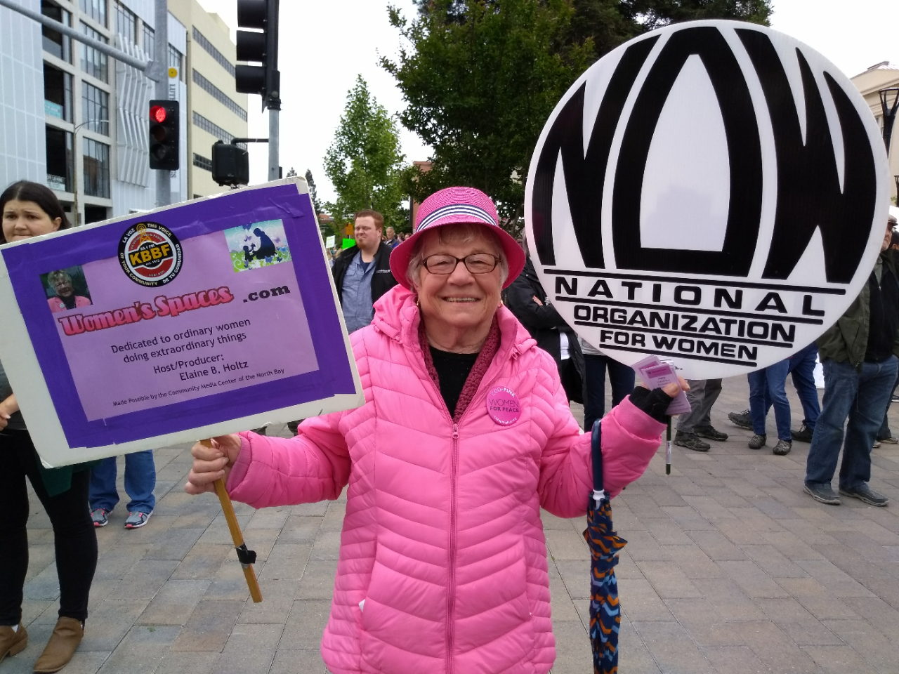Elaine B. Holtz at the Stop the Bans Rally in Santa Rosa 5/21/2019
