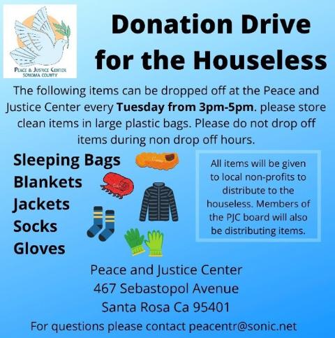 Donation Drive for the Houseless