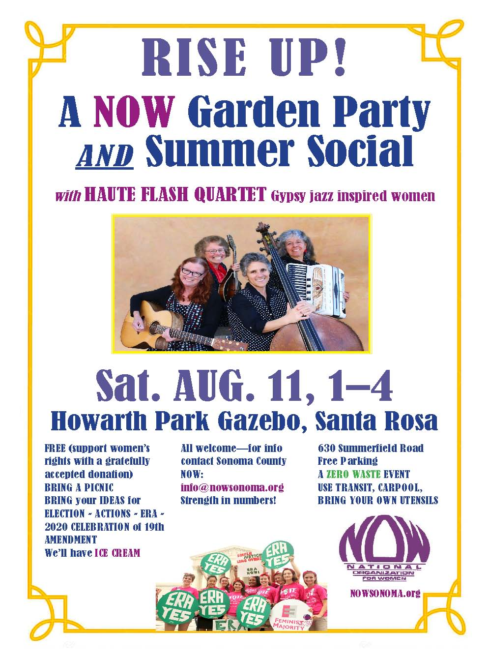 Rise Up Summer Social of NOW Sonoma 8/11/2018